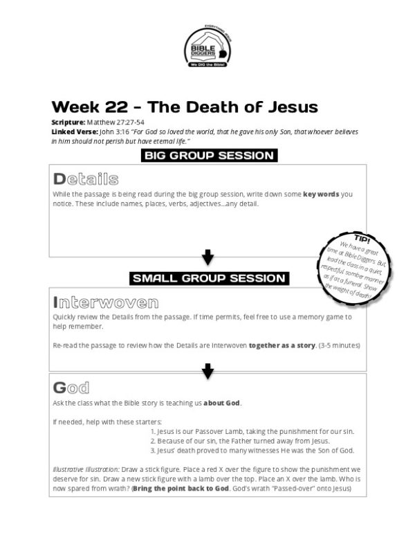 Bible Diggers Year 1 Week 22 - Matthew 27 - Preview